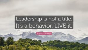 leadership is not a title